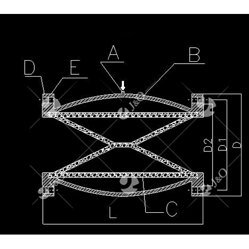 DIN New Style Pnumatic Flange Pinch Valve