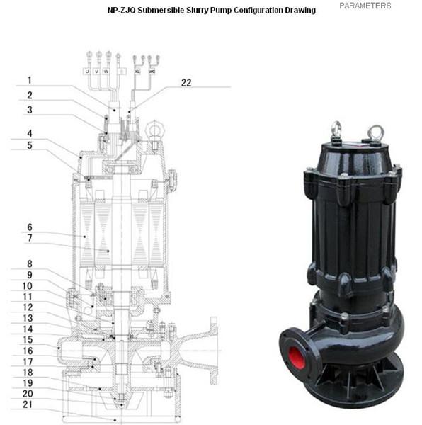 Wq Series Submersible Centrifugal Sewage Water Pump
