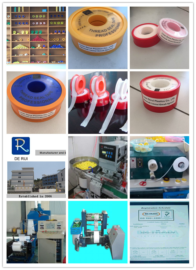 2016 Popular 100% PTFE Thread Sealing Tape for Water Pipe