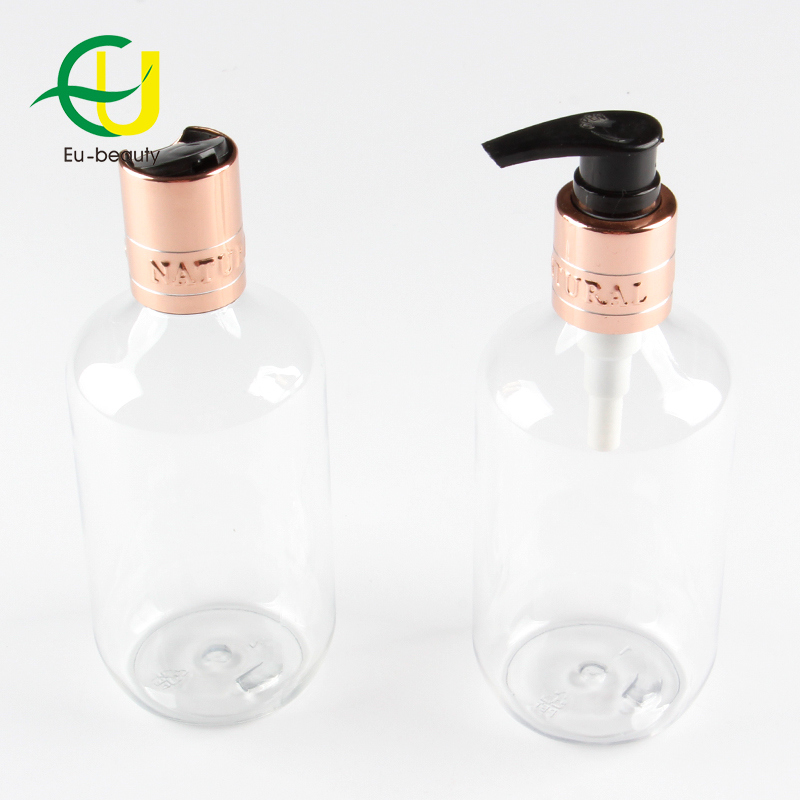 24mm Disc Top Cap and Lotion Pump Pet Clear Bottle