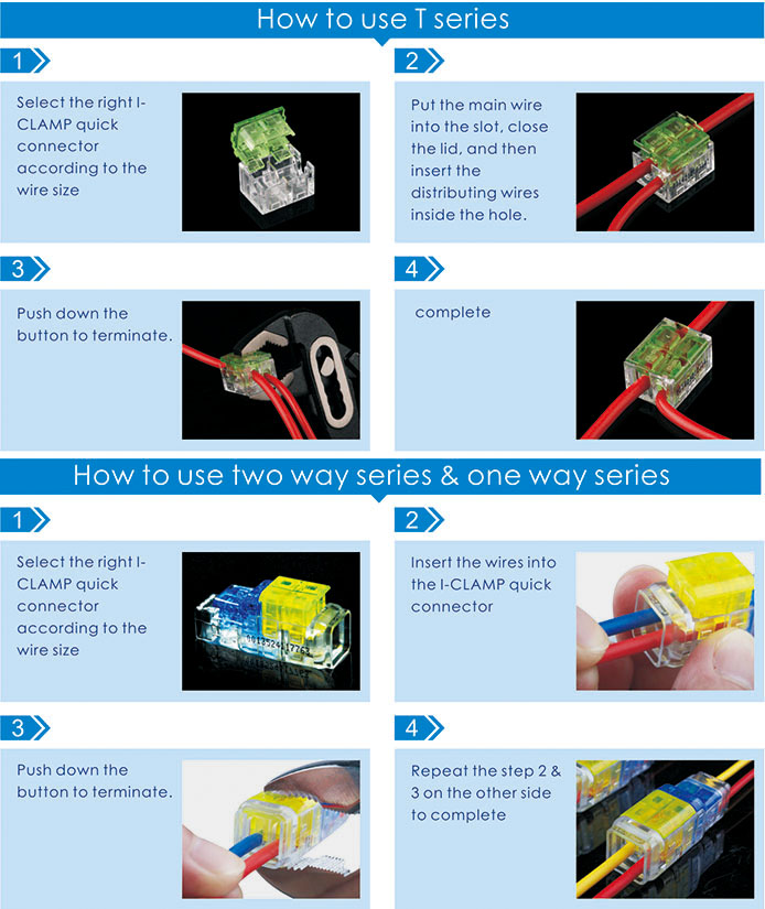 Quick Connect Wiring Connectors for Junction Box