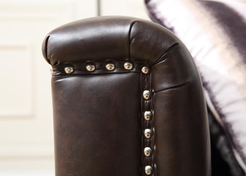 Classic Living Room Chesterfield Leather Sofa
