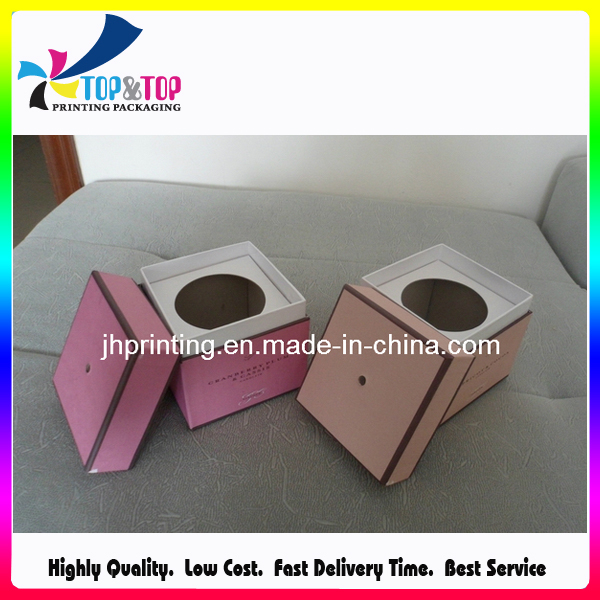 Decorative Square Custom Paper Cardboard Candle Packaging Boxes