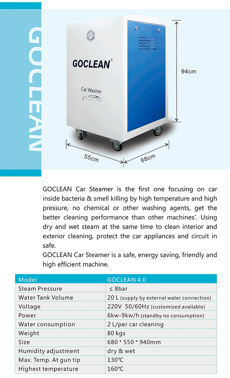 2L Water Per Car Washing Auto Steam Vacuum Cleaner