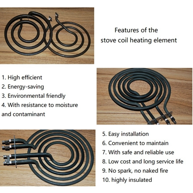Good Quality Stainless Steel Green Annealing Stove Coil Heating Element with Bracket