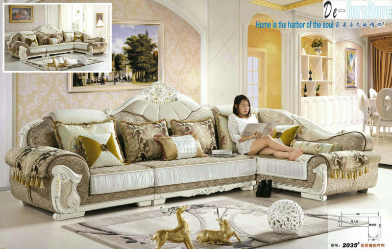 New Classic Fabric Sofa, Saudi Arab Sofa (2035)