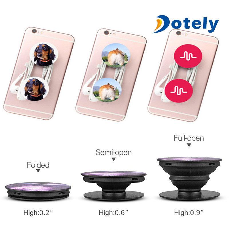 Moon Design Pop Cellphone Socket Expanding Popup Stand