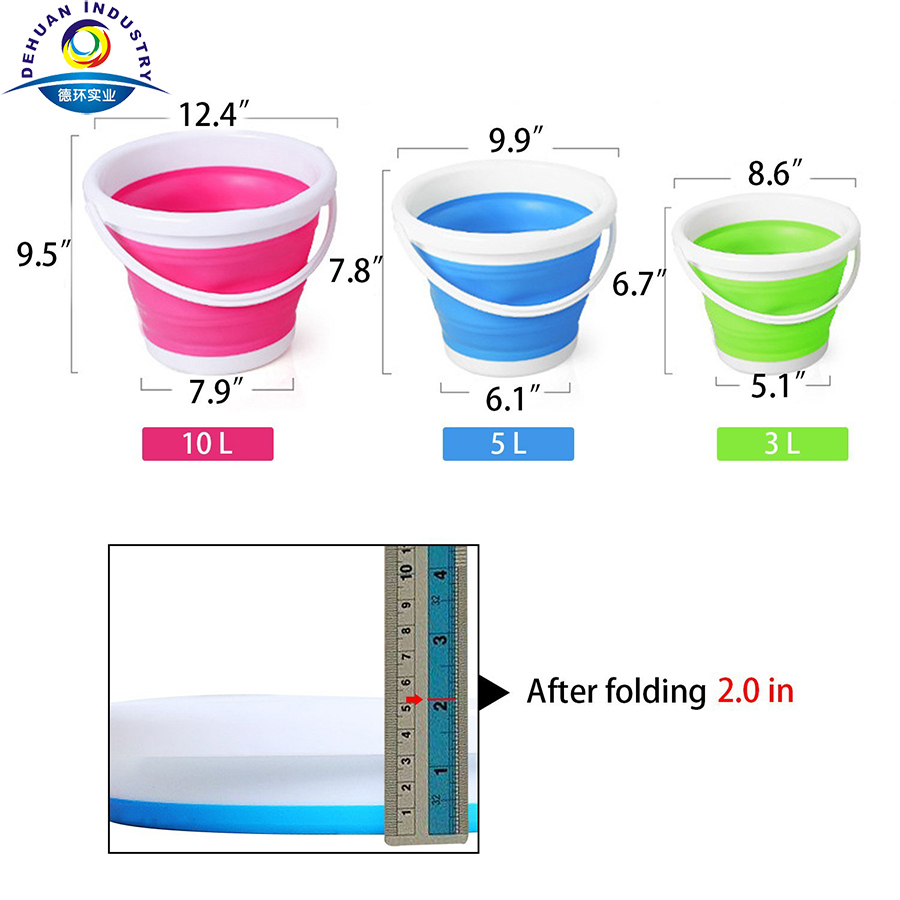 Folding Bucket and Can Ice Bucket