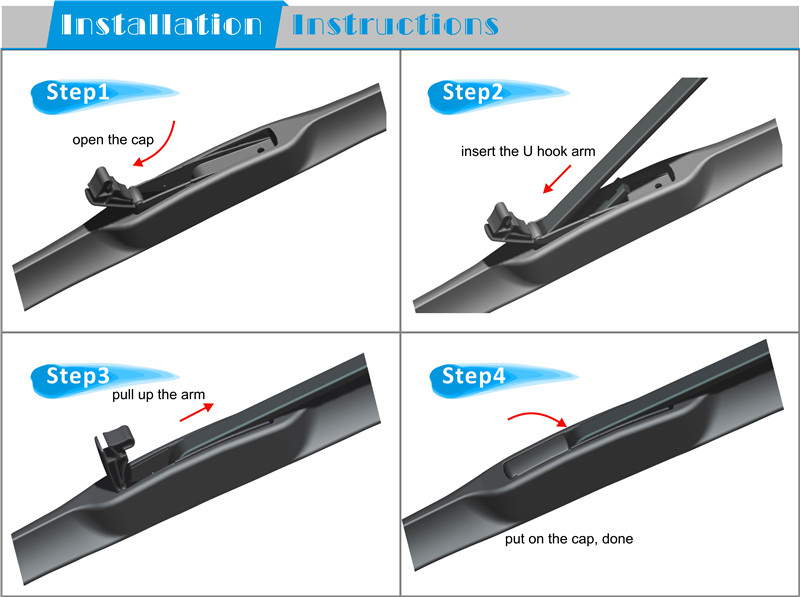 T170 4s Shop Smooth Multifit Efficient Long Service Life Premium Natural Rubber Refill Windshield Passenger Driver Wiper Blade