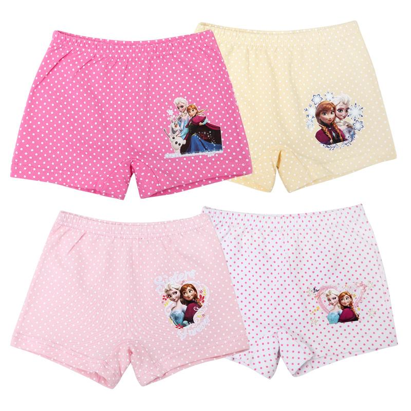 in Stock Summer Anna Elsa Kids Underwear 100 Cotton Mix Colored Girls Panties Underwear for 2-10 Years Old