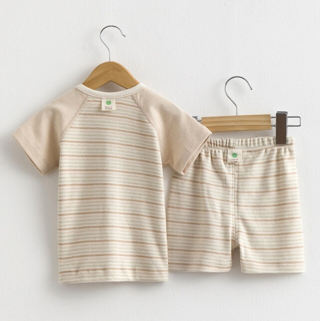 Summer Short Sleeves Underwear Set