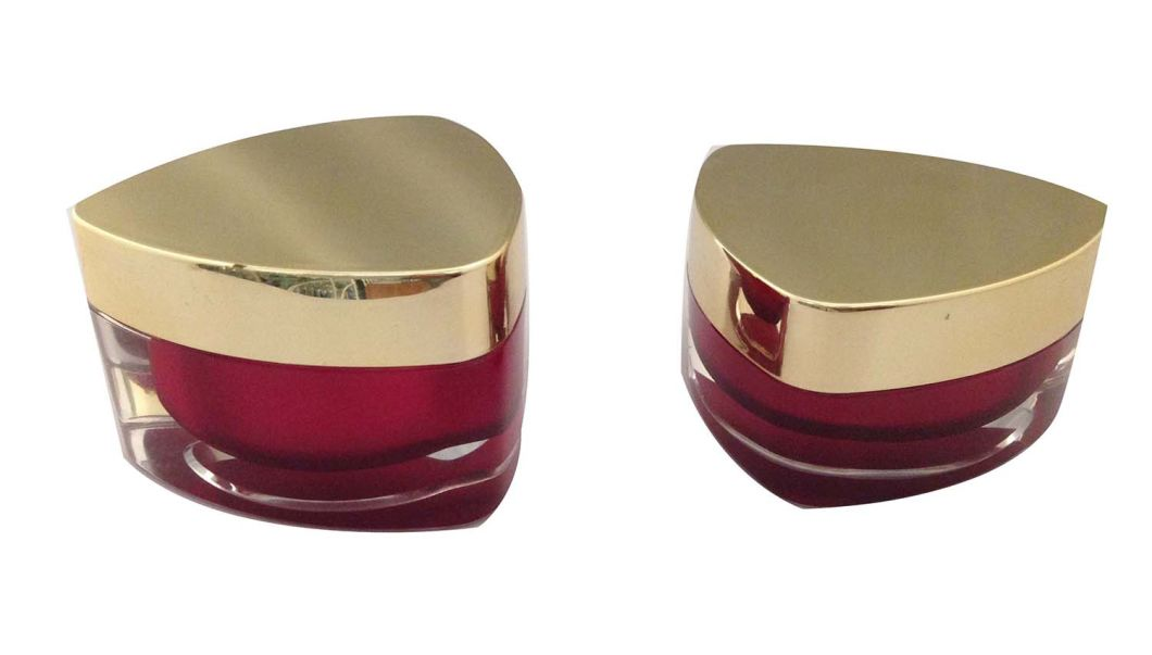 Triangle Shape Cosmetic Empty Acrylic Cream Jar