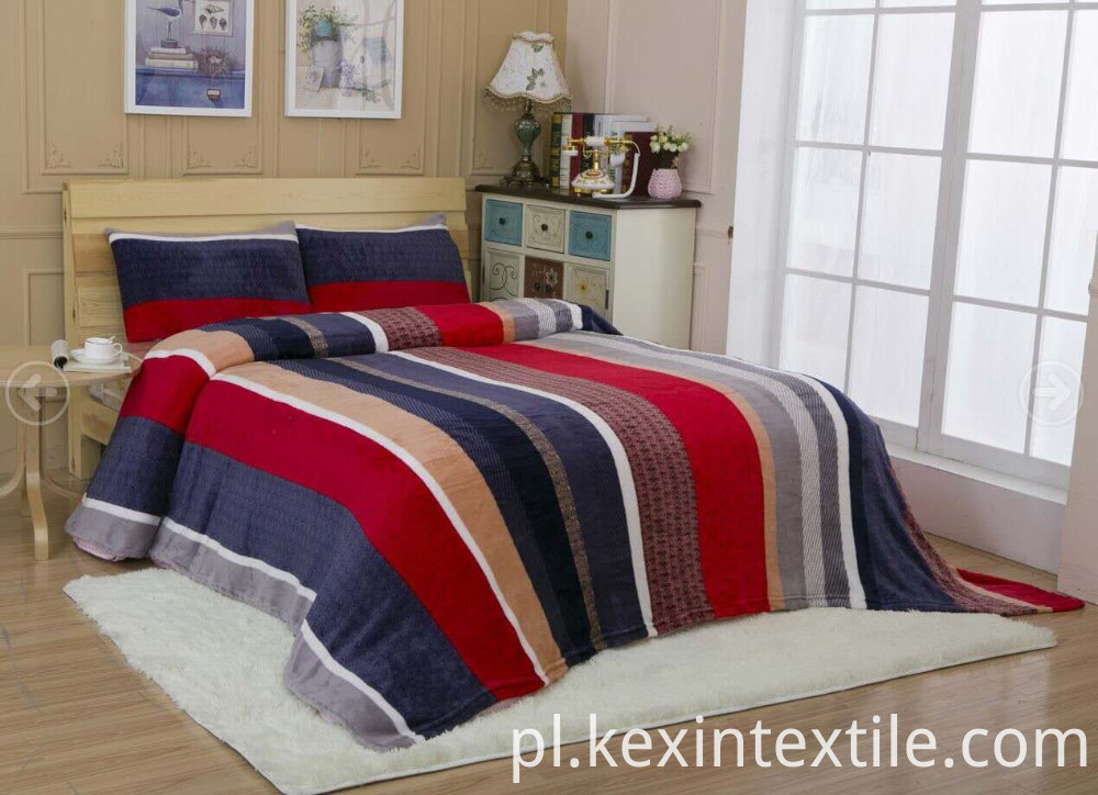 Strip Design Flannel Fleece Blanket