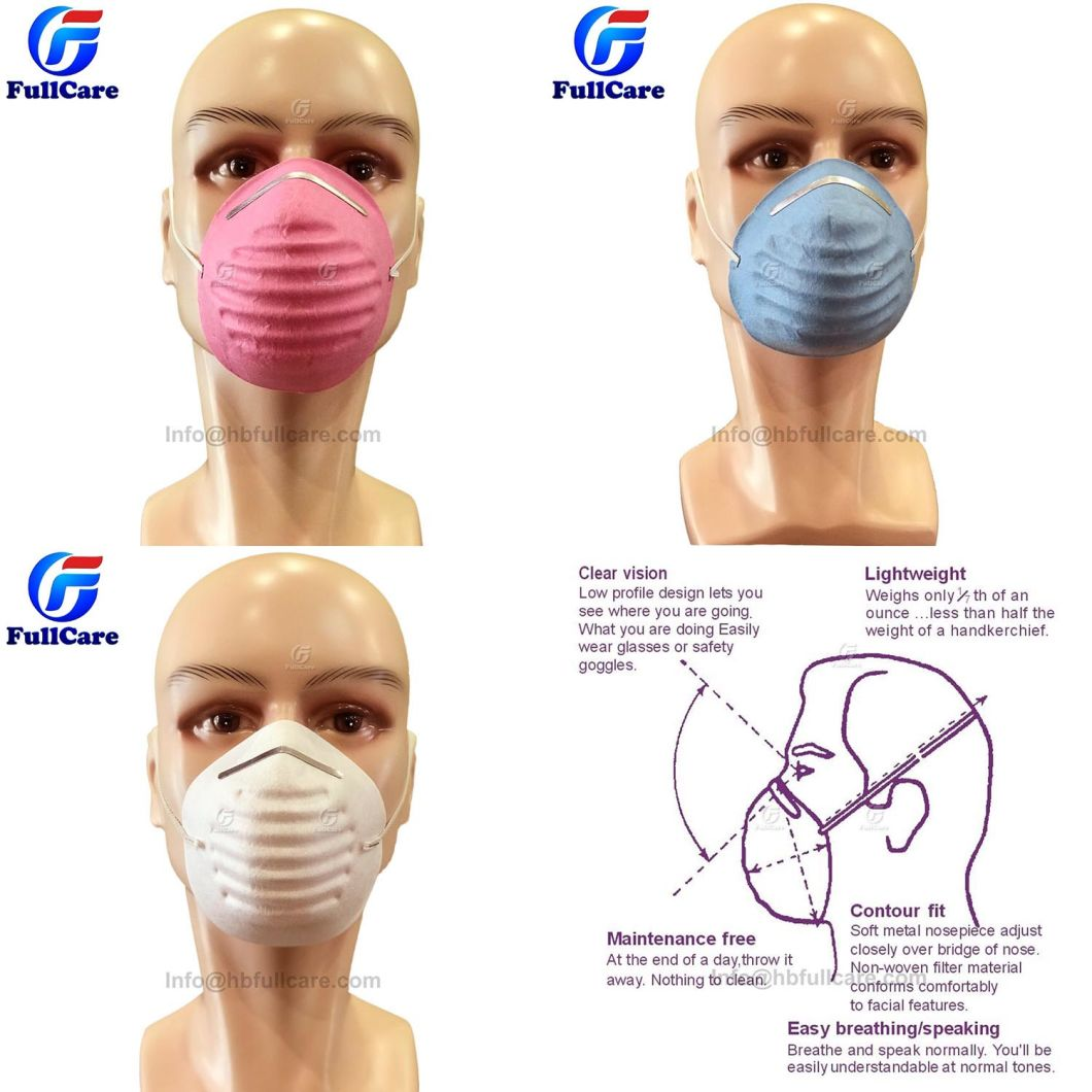 Disposable Nonwoven Industrial Safety Single Layer Respirator Cone Shape Dust Nuisance Mask