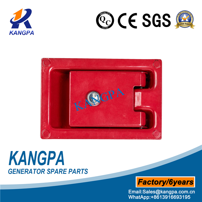 Generator Spare Parts of Canopy Door Lock with Red Painting