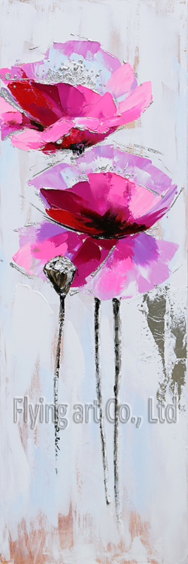 Acrylic Canvas Flower Oil Painting