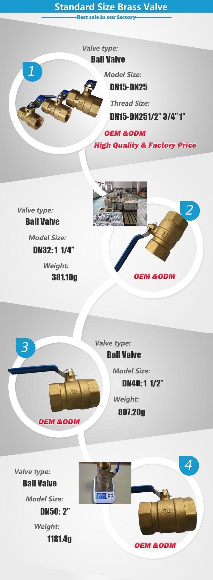 100 Wog Handwheel Brass Stem Ball Valve