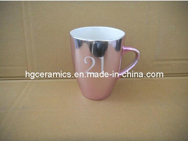 Electroplating Ceramic Mug, Metallic Mug