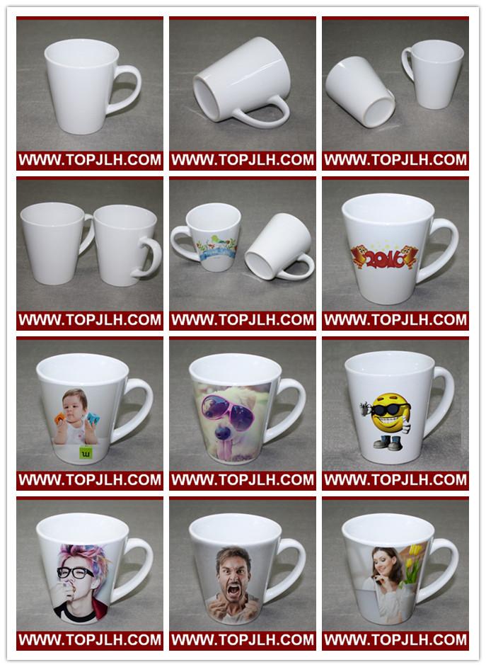 DIY Transfer Printing Blank 12oz White Cone Mug