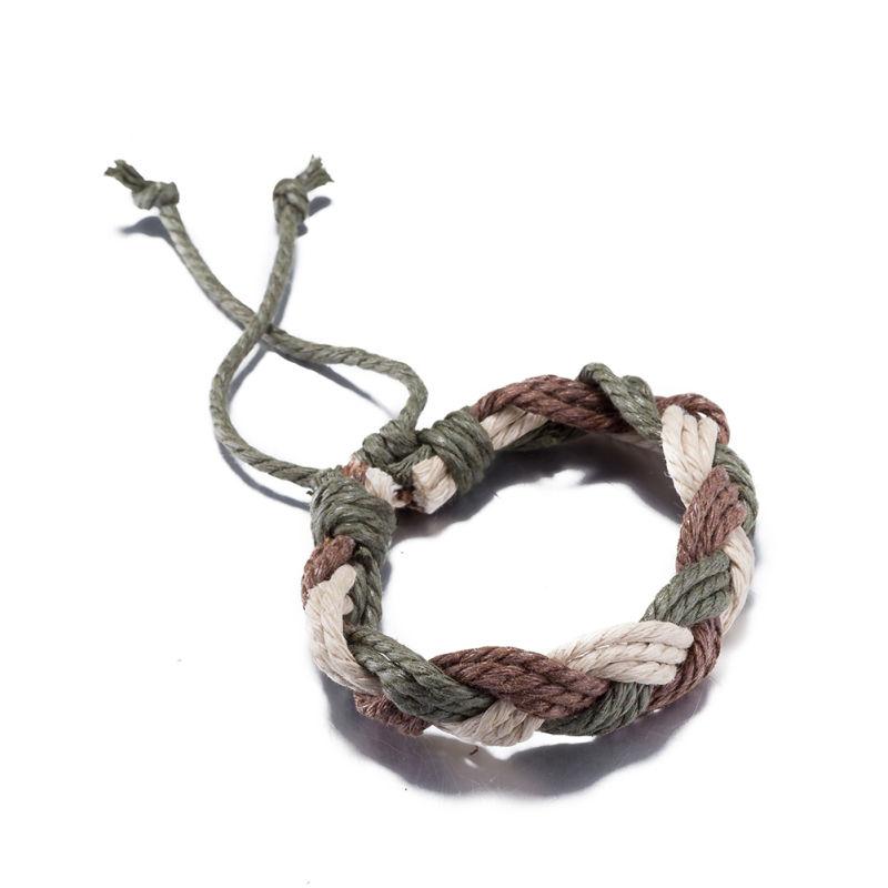 Hot Sale Fashion Vintage Cowmade Bracelet Green and Brown  Handmade Bracelet