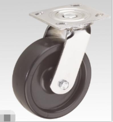 Heavy-Duty Black PP with Brake Caster Wheel