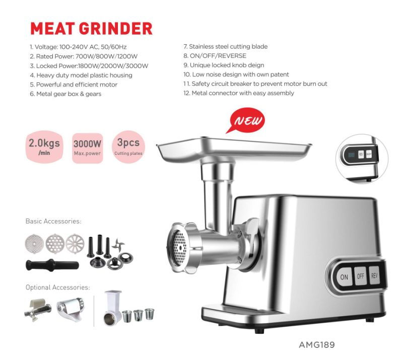Low Price New Design Powerful Electric Meat Grinder GS/Ce
