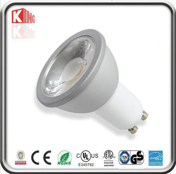 White Housing 120V 7W GU10 LED Spotlight