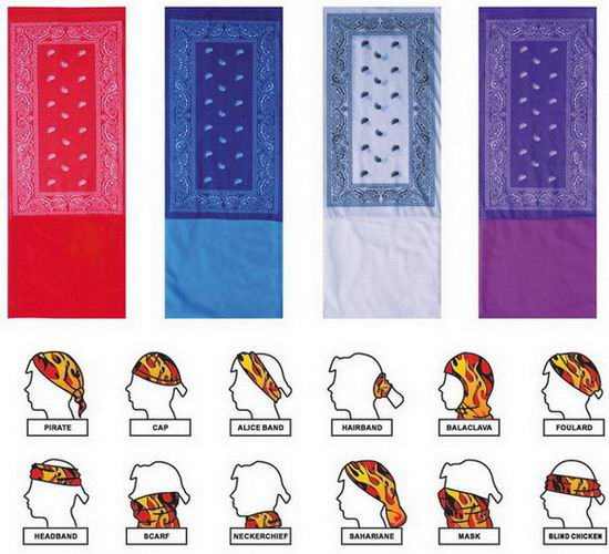 Fashion Promotion Tube Seamless Tubular Multi Buff Bandana