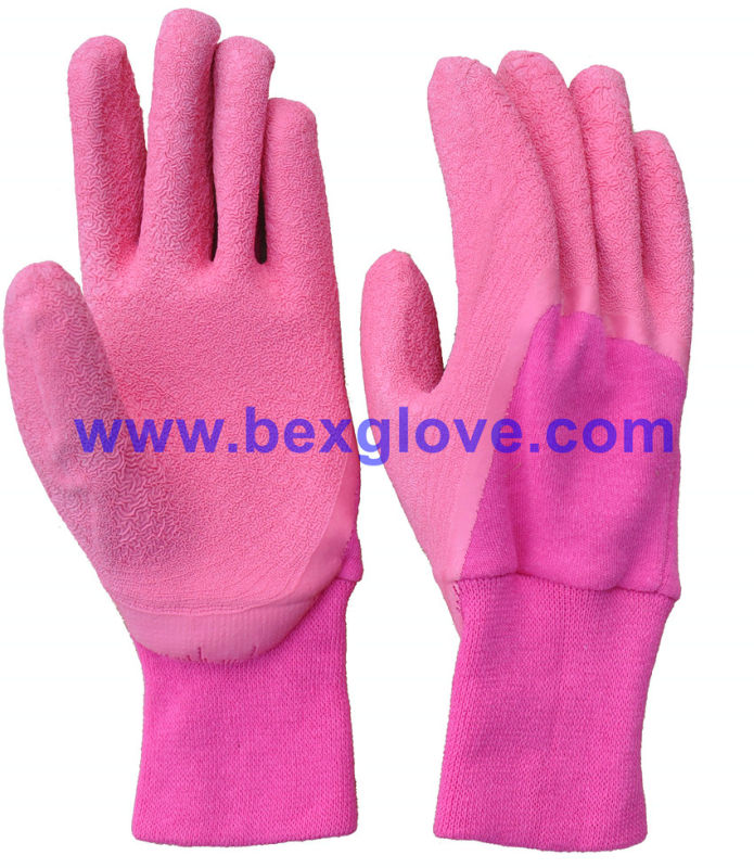 Color Cotton Liner, Latex Kids Garden Glove