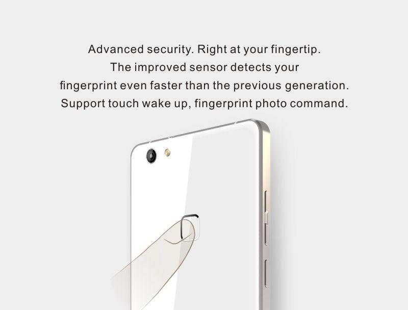 2.5D Arc Screen Fingerprint Identification Mobile Phone 5.5'' IPS