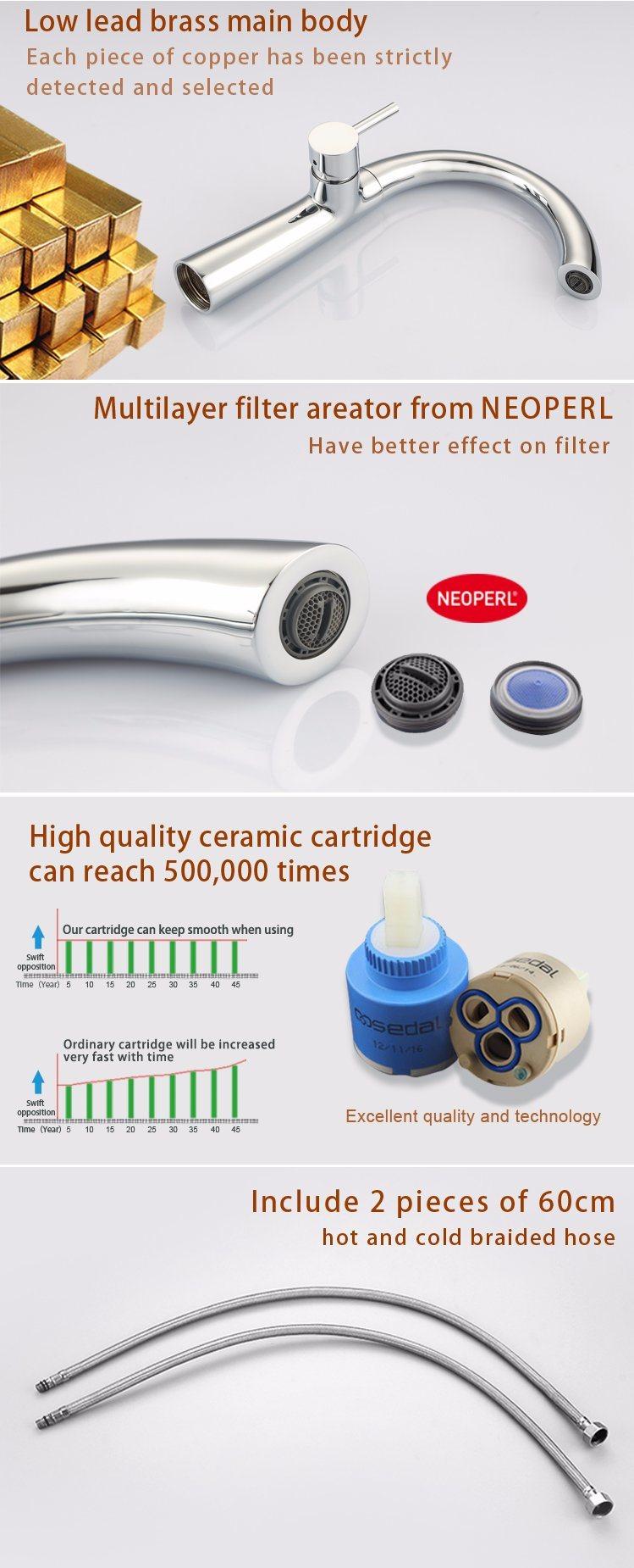 Single Handle Bathroom Basin Faucet, Bathroom Water Tap for Sale