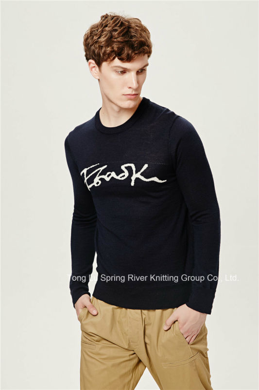 Acrylic Wool Pullover Knit Sweater for Men