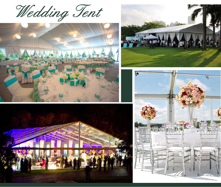Functional Hall Tent for 1000 Personns Outdoor Wedding with Roof Ling and Curtain