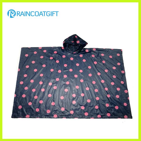 Promotional Full Printing Adult PE Rain Poncho Rpe-014