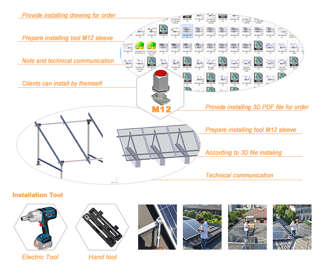 Solar PV Pipe Ground Mounting System Bracket Products (SY0013)