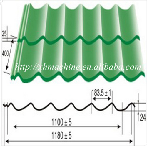 High Efficiency Glaze Tile Roll Forming Machine