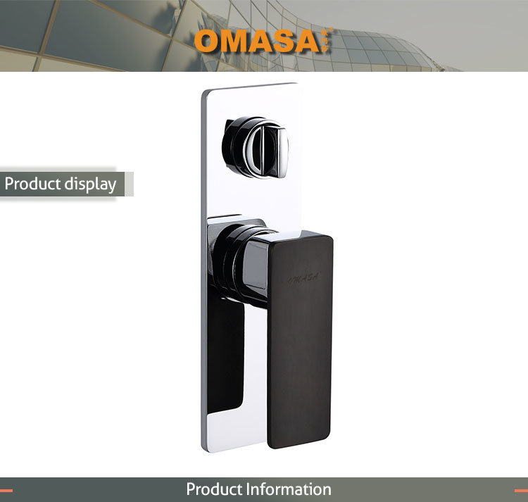 Wholesale Hotel Matt Black in Wall Shower Faucet with Good Price