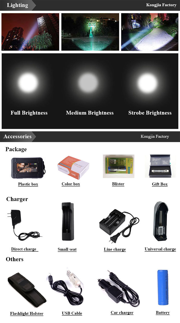200 Lumens Portable Mini Light Rechargeable Battery Pencil Torch