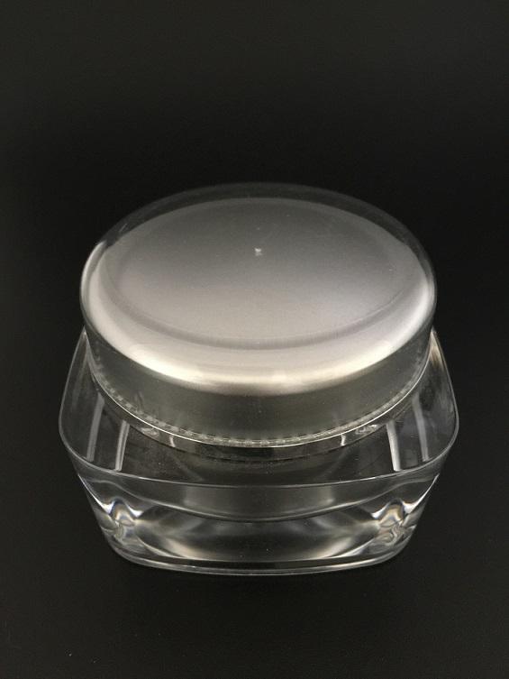 Luxury Customerized Acrylic Cream Bottles for Cosmetic Packaging