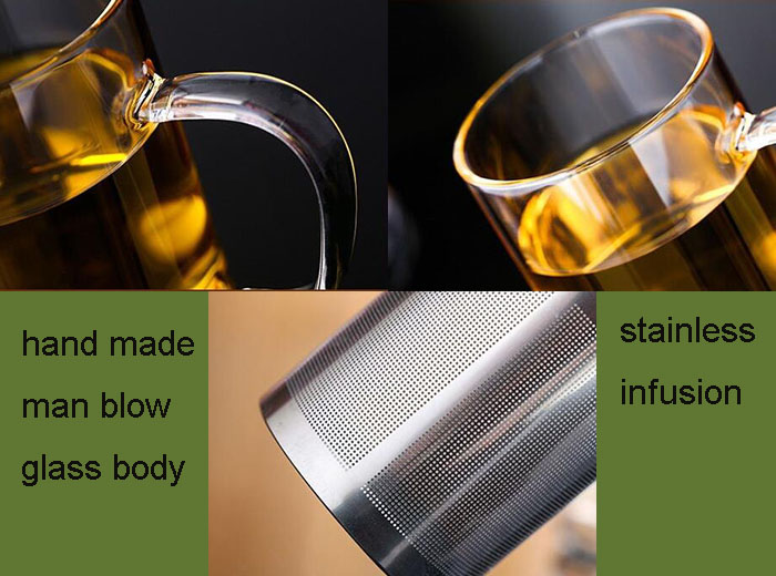 Customized Stainless Steel Filter Glass Tea Cup for Gifts