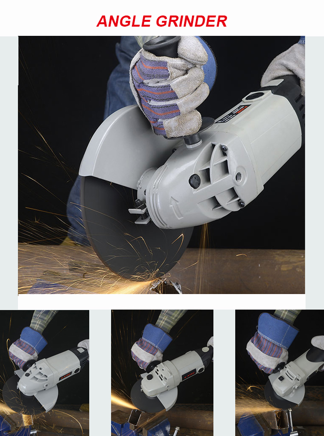 Cheap 1300W 150mm Electrica Power Tools Angle Grinder (AT8150)