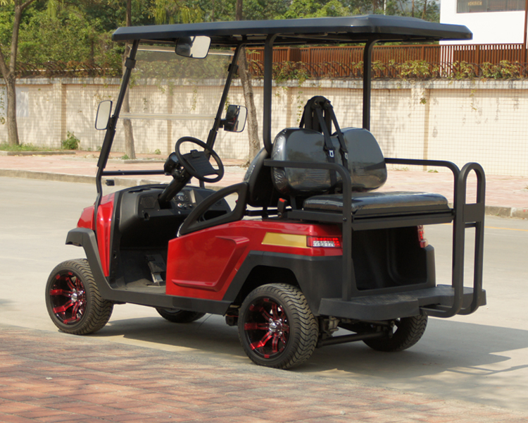 New Design 4 Seater Electric Golf Cart with Foldable Seat