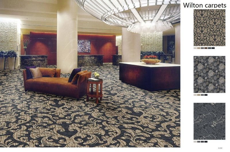 Power Loom Wilton Wall to Wall Wool Hotel Carpets