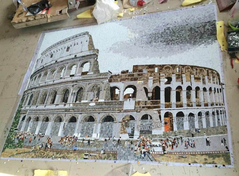 Mosaic Mural Tile, Picture Mosaic for Wall Decoration (HMP810)