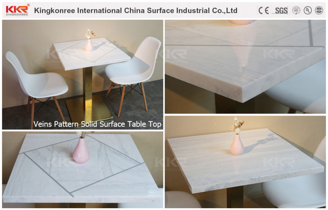 China Hot Table Acrylic Solid Surface Round Coffee Table