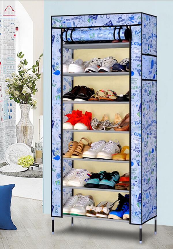 Multilayer Metal Folding Combination Fabric Ventilation Shoe Cabinet