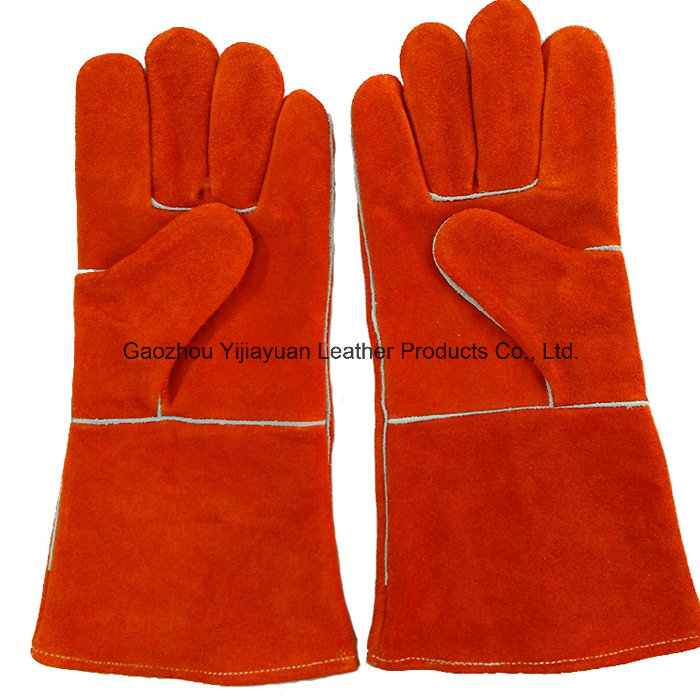 High Quality Cow Split Leather Welding Gloves with Kevlar Stitching