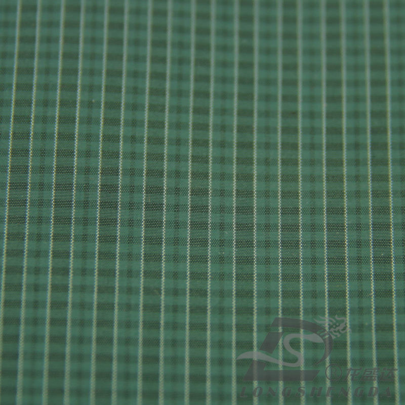 Water & Wind-Resistant Fashion Jacket Down Jacket Woven Plaid Jacquard 100% Polyester Sea-Island Filament Fabric (X045)