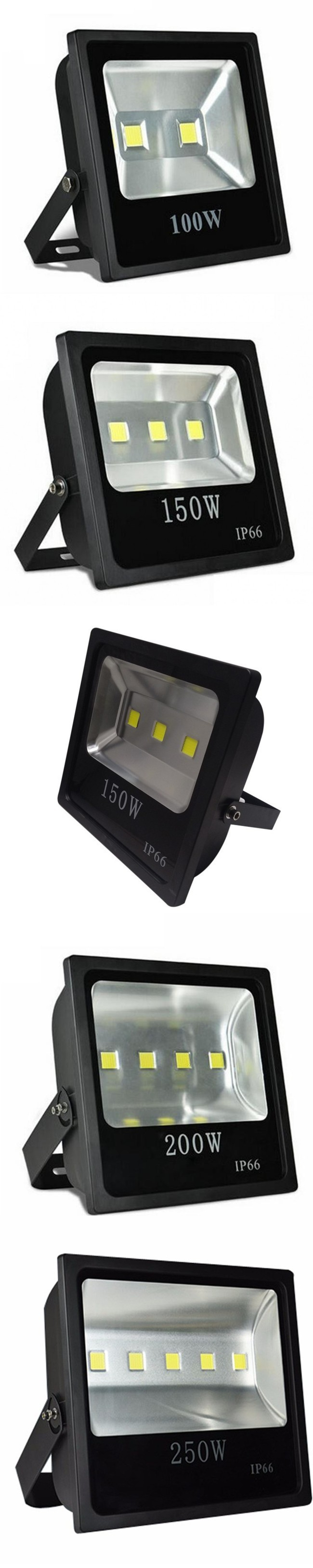 160W COB LED Floodlight Outdoor Cheap Light 110V 220V (100W-.83/120W-.23/150W-.01/160W-.54/200W-.92/250W-.53) 2-Year Warranty
