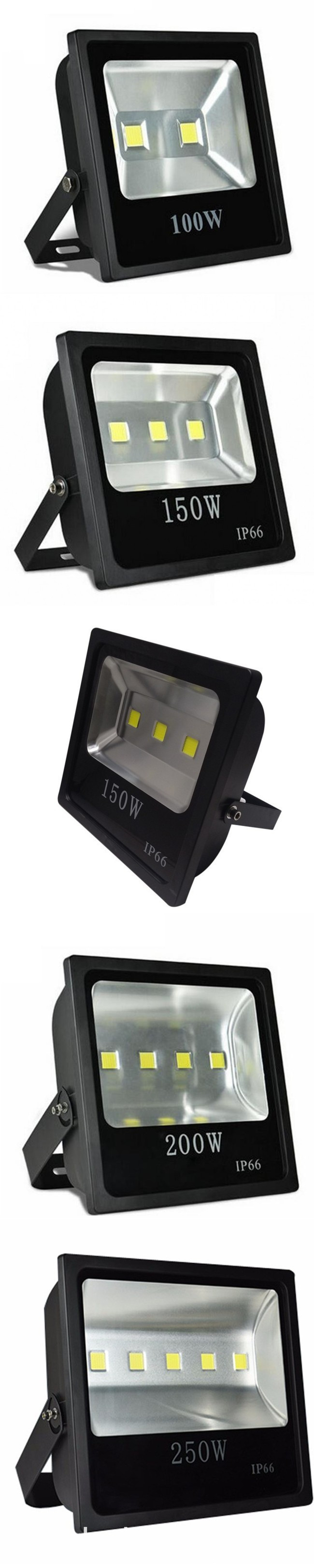 160W COB LED Floodlight Outdoor Cheap Light 110V 220V (100W-.83/120W-.23/150W-.01/160W-.54/200W-.92/250W-.53) 2-Year Warranty